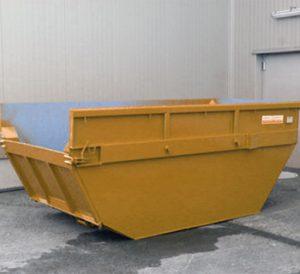 contenedor amarillo de obras